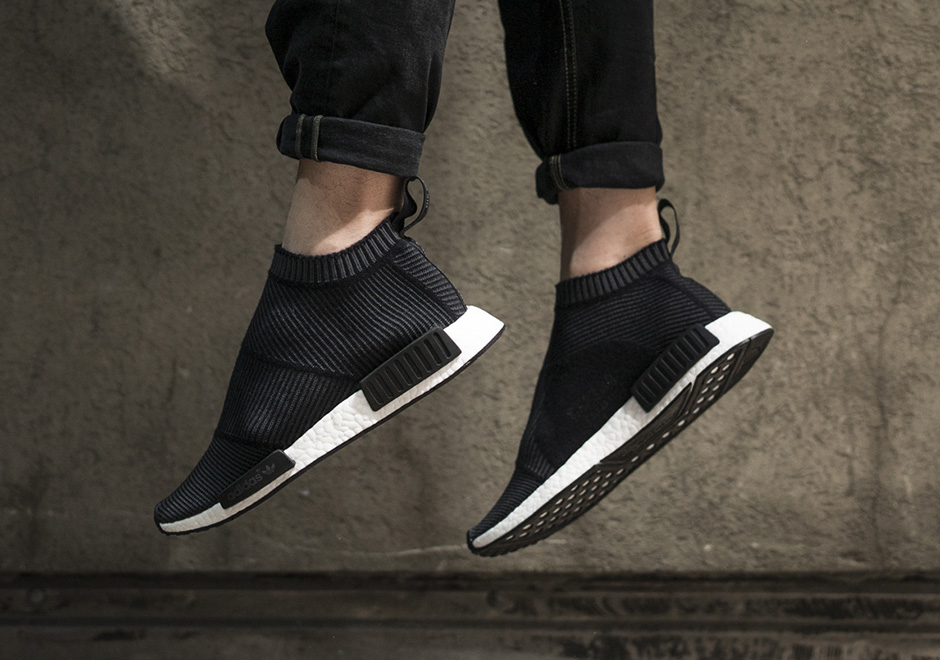 super popular ed10d cb586 adidas NMD City Sock Black Grey White   SneakerNews.com