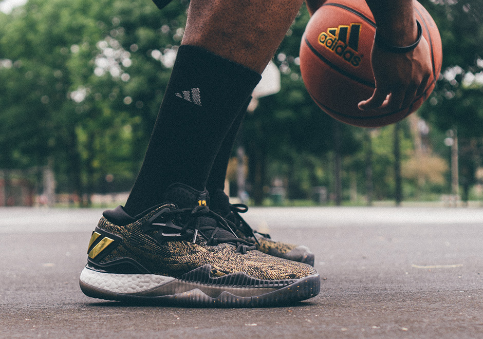 quality design 55c77 8b566 ... get adidas crazylight boost 2016 is better than ever in black gold  james harden pe sneakernews
