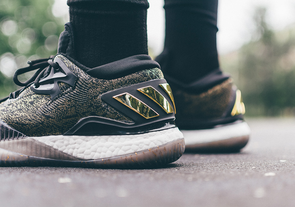7a0037cf83e ... get adidas crazylight boost 2016 is better than ever in black gold  james harden pe sneakernews