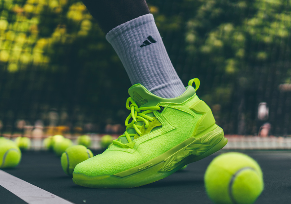 "huge discount 97e93 64bd9 Damian Lillard And adidas Release ""Tennis Ball"" In Time For US Open"