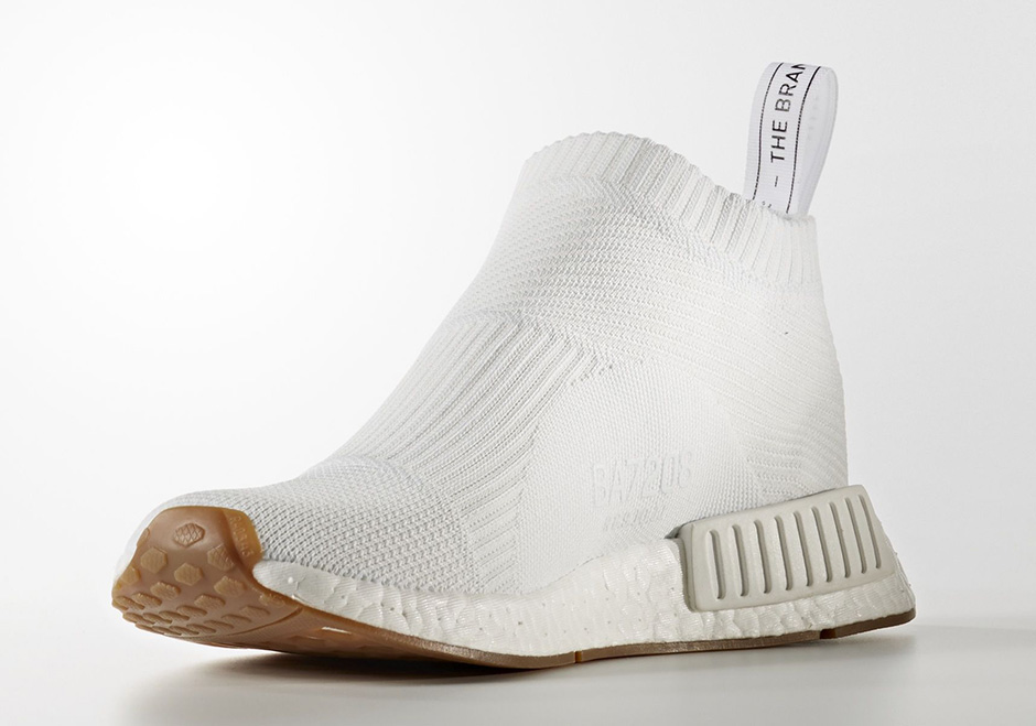 Adidas Originals Nmd Primeknit / Blanco / Goma Blanca Q19E1k8LAk