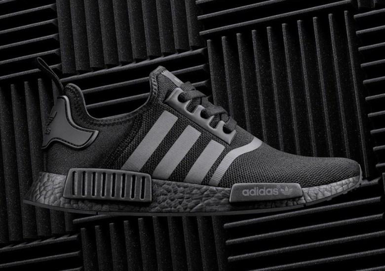 "362314cd9698d The adidas NMD R1 ""Triple Black"" Has Reflective Stripes"