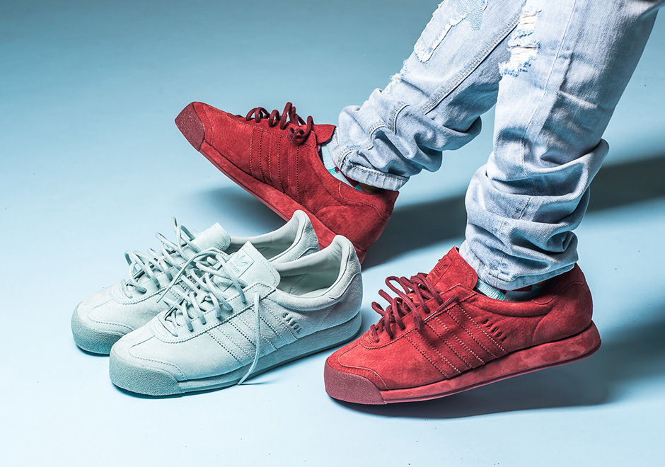 adidas Samoa Pigskin Suede All-Red Mint Green  f645d6259