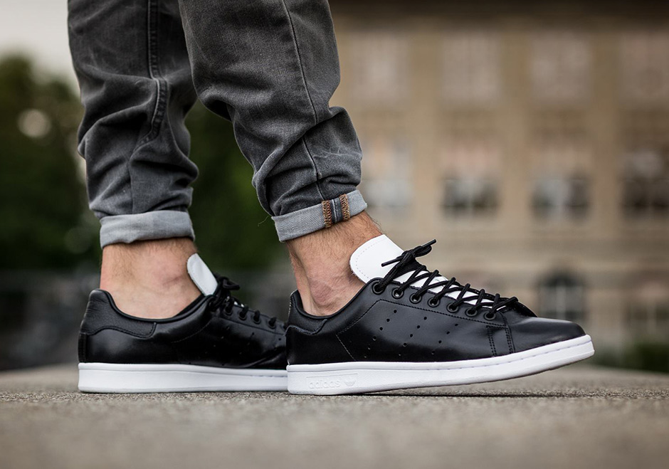 0d26e4e49e90 adidas Stan Smith Black White Leather S80018