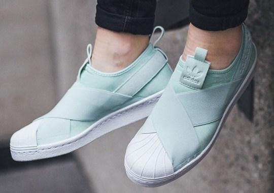 Light Mint Tones On The adidas Superstar Slip-On