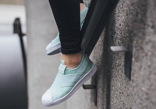 adidas superstar slip on womens black adidas shoes