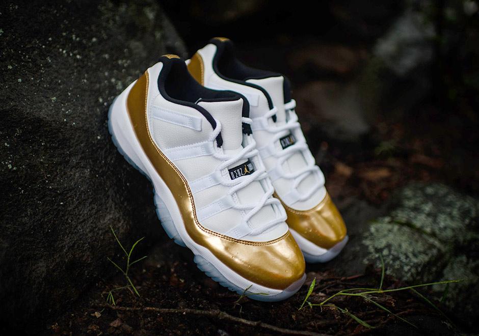 1ce0d081f01330 Air Jordan 11 Low Gold Release Info