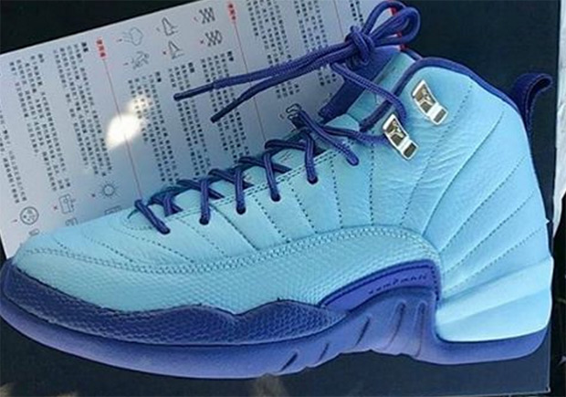 "new product 91dea d630a ... retro 12 womens sky blue white Air Jordan 12 ""Purple Dust"" Releasing In  Kids Sizes ..."