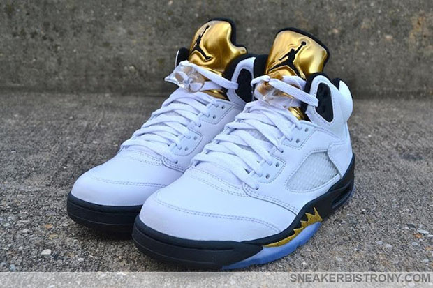 "newest 63d2f 6353b Air Jordan 5 Retro ""Gold"". Color  White Black-Metallic Gold Coin Style  Code  136027-133. Release Date  8 20 2016. Price   190"