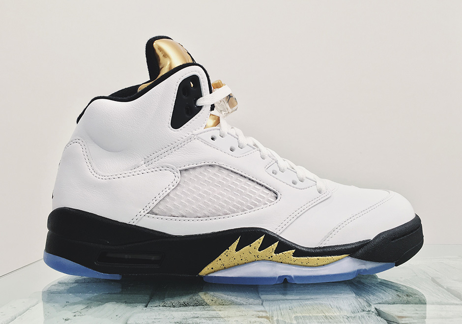 "63eb328a83b Air Jordan 5 ""Gold Tongue"" Releasing As Rio Olympics Come To A Close"