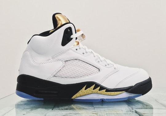 "Air Jordan 5 ""Gold Tongue"" Releasing As Rio Olympics Come To A Close"