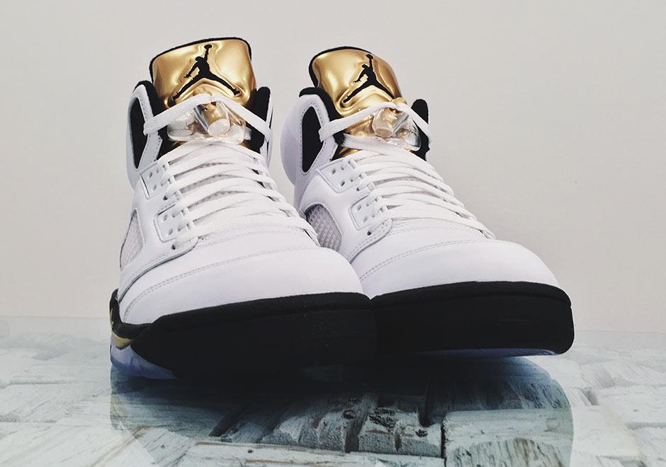 best website fb703 0355c Air Jordan 5 Gold Tongue Detailed Images | SneakerNews.com