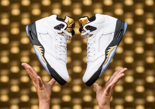 "Air Jordan 5 Retro ""Gold Tongue"" Drops Tomorrow"