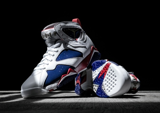 """Celebrate Team USA's Quest For Gold With The Jordan 7 """"Olympic Alternate"""""""