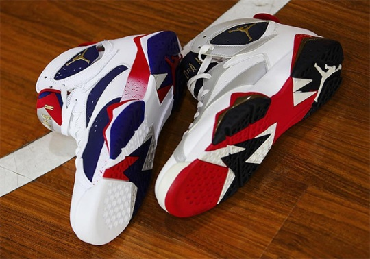 "Comparing Tinker Hatfield's Original ""Olympic"" Jordan 7 Design With The ""Alternate"""