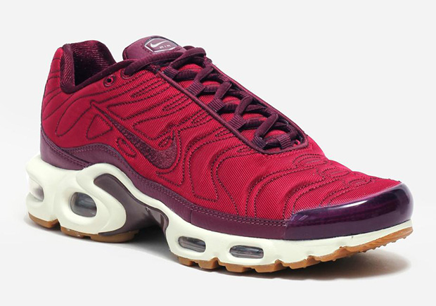 973bd3f5c894f Smooth satin finishes for the women s Nike Air Max Plus continue with yet  another colorway in  Night Maroon . The lush dark red hue outfits the  classic 1998 ...