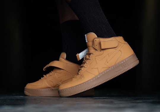 "BAPE Is Back With A Spin-off Of The Air Force 1 Mid ""Flax"""