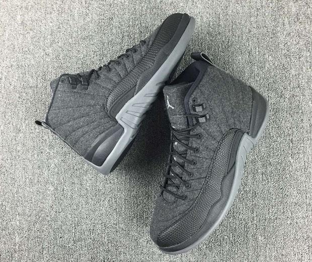 "227c0cd3d809a9 Air Jordan 12 ""Wool"". Color  Dark Grey Metallic Silver-Black Style Code   852627-003. Release Date  October 1st"