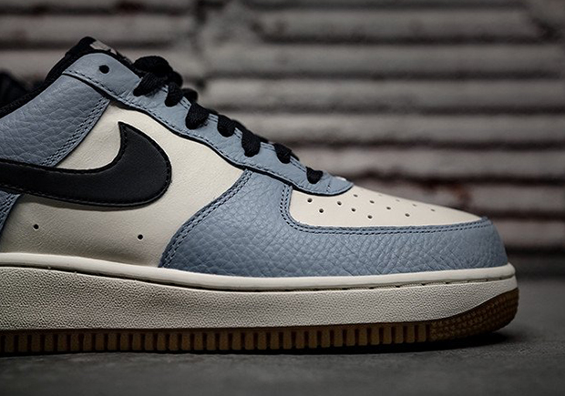 detailed look 5b5de ed9d4 ... where to buy nike air force 1 low bluecap obsidian sail gum 4  sneakernews 9dcbd 9c678