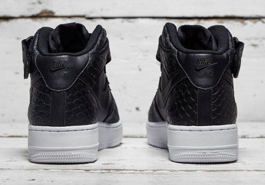 The Nike Air Force 1 Mid With Black Python Is Available