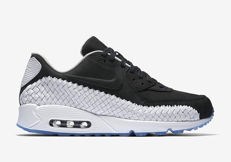 Nike Air Max 90 Noir Et Blanc Semelle Cuir Hommes