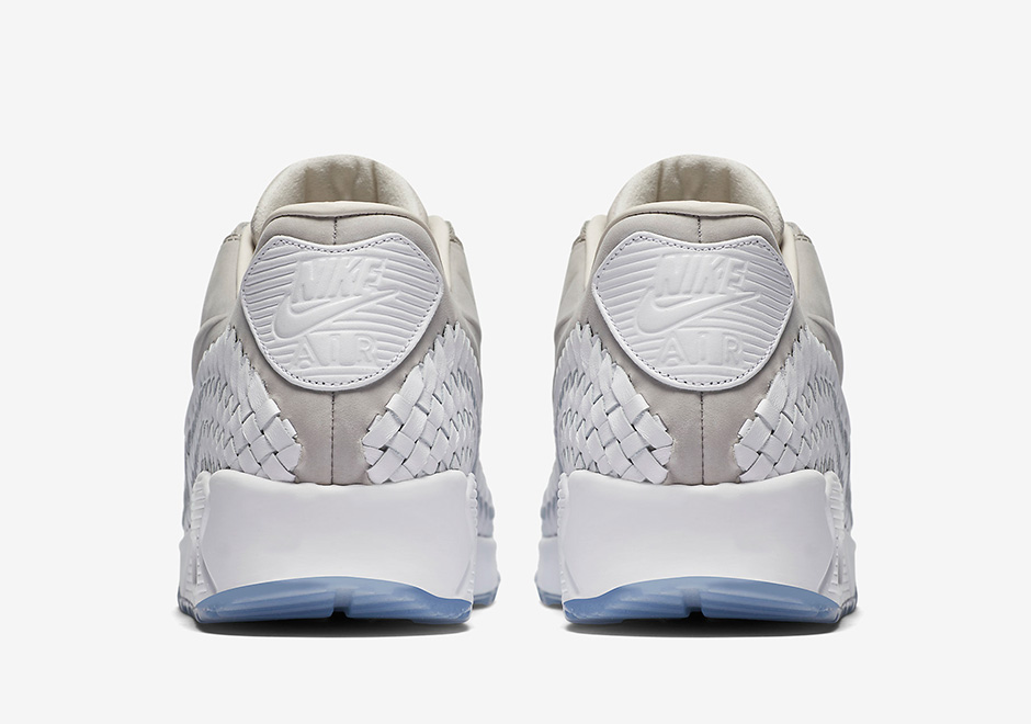 separation shoes 85c84 9e78a Nike Air Max 90 Woven. Color  Light Iron Ore White