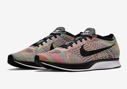 "Nike SNKRS Restocks The ""Multi-Color"" Flyknit Racer"