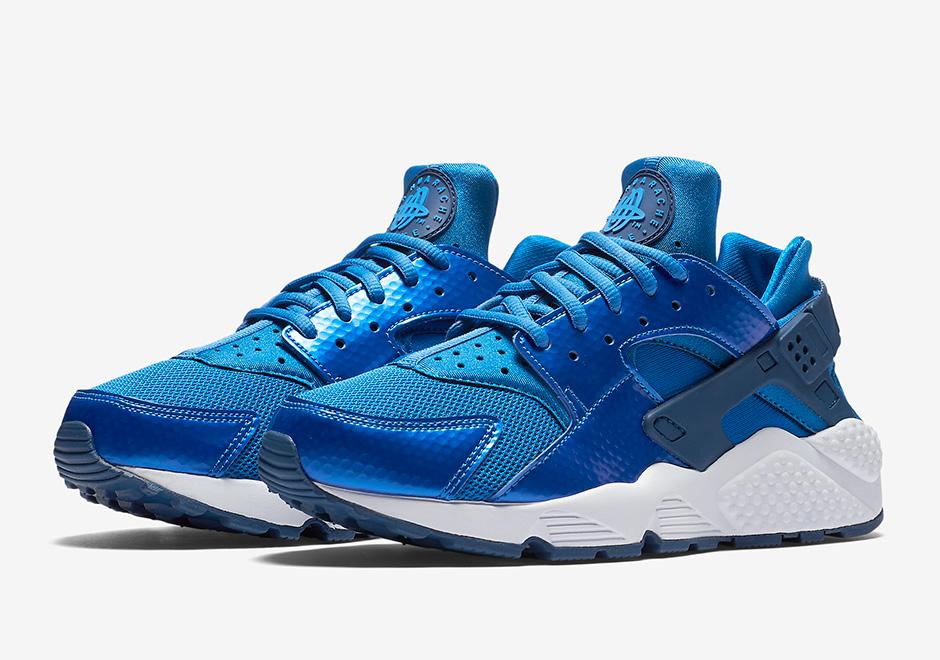 Nike Huarache Metallic Blue 634835 405 Sneakernews Com