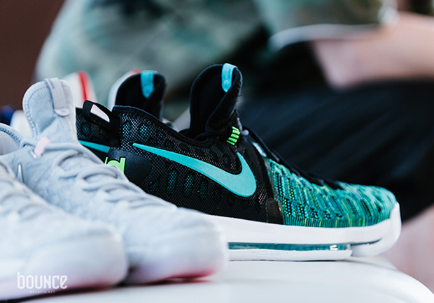 "fac9bfb6f701 NIKE KD 9 ""BIRDS OF PARADISE"". Color  Black Clear Jade"