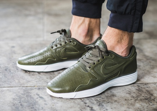 881037c46c69 The Nike Lunar Flow Appears In Olive Premium Leather