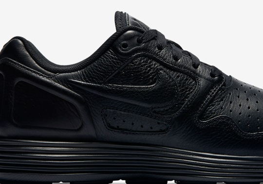 Nike Brings Triple Black To The Lunar Flow Leather