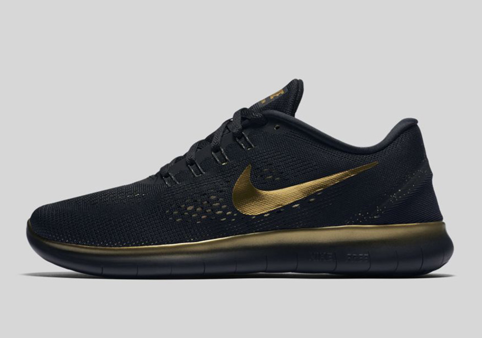 """newest collection 52272 aa79b Nike Free RN """"Black and Gold"""""""