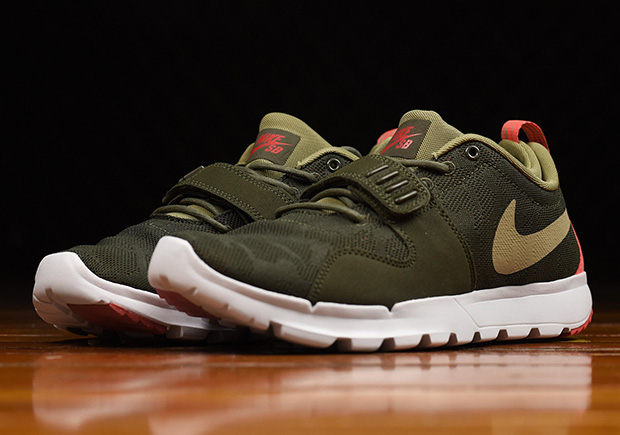 promo code fbc8e 535dd Case in point this new colorway for the Nike SB Trainerendor in olive and  khaki ...