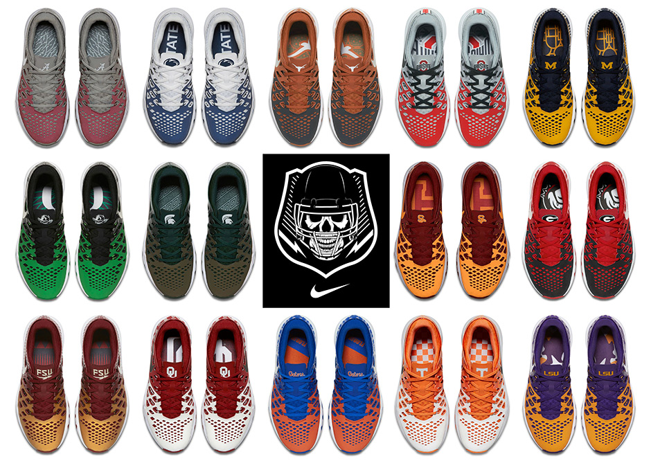 006c7b3b3934 Nike Prepares For 2016 College Football With Training Shoes For 14 Schools