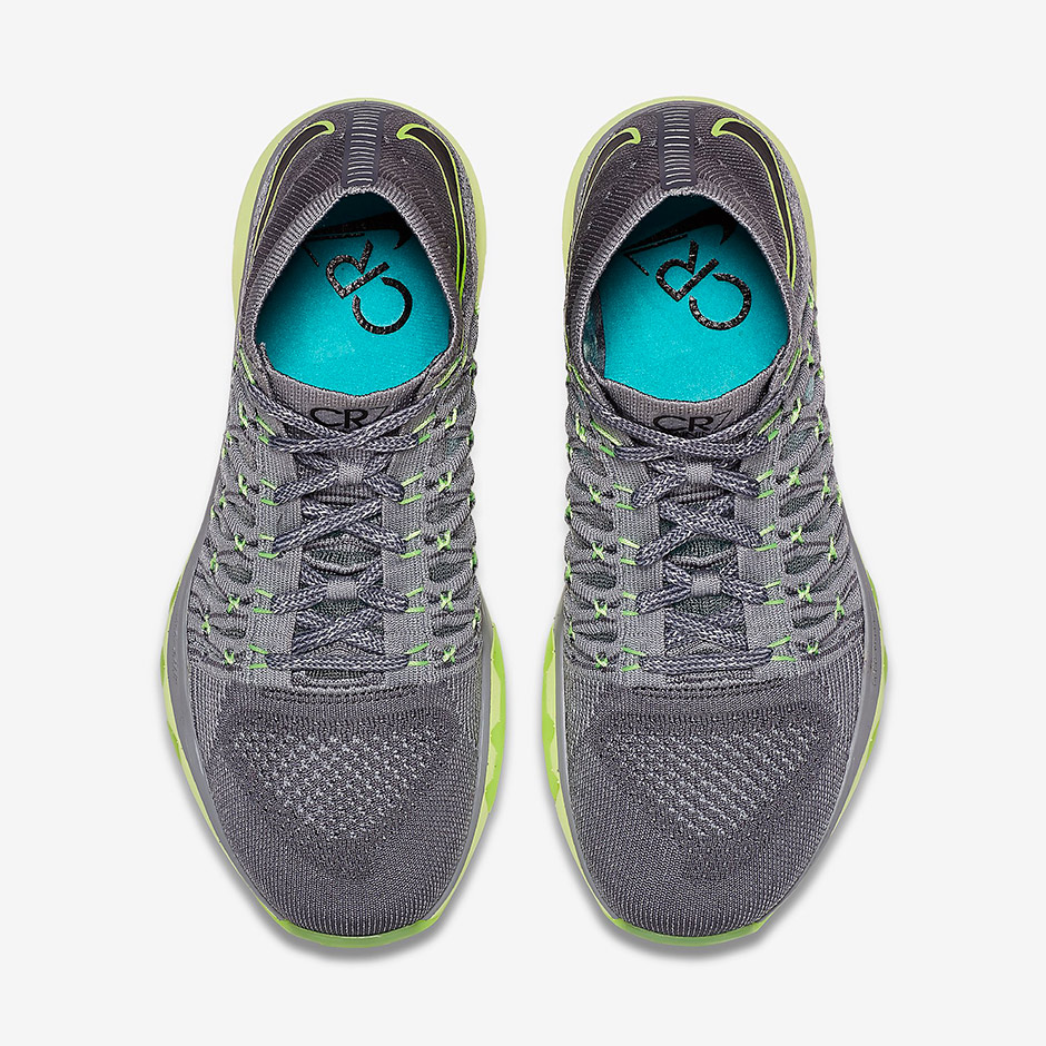 Nike Train Ultrafast Flyknit CR7. Color: Cool Grey/Wolf Grey/Clear  Jade/Black Style Code: 844524-001. Price: $200