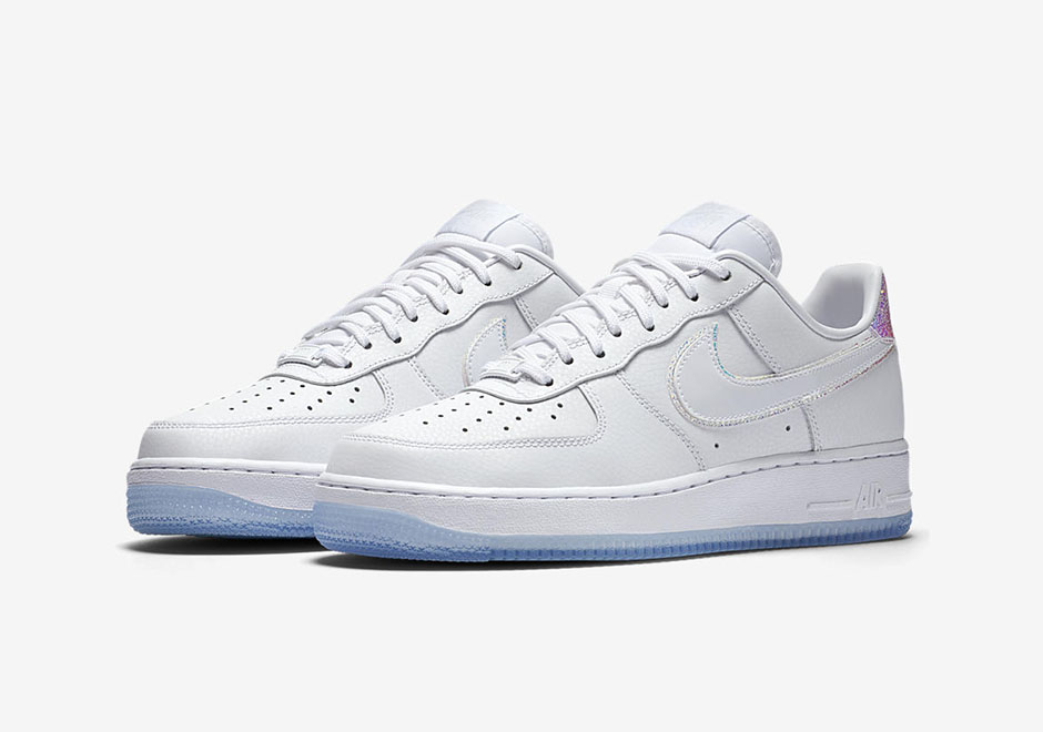 Womens nike air force 1 white Casual The Womens Air Force iridescent Pack Arrives At Select Nike Sportswear Retailers And The Nike Snkrs App On September 1st Nordstrom Nike Air Force Iridescent White Leather Women Sneakernewscom