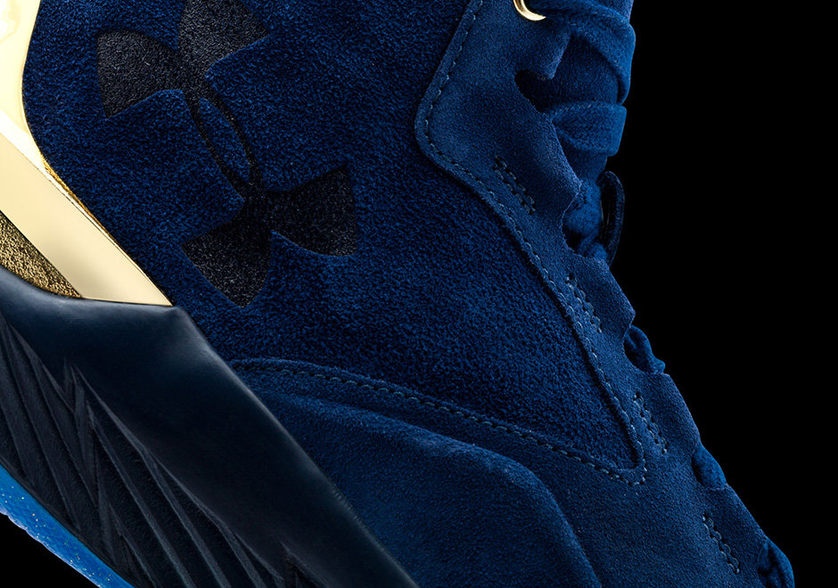 online store e9879 15723 Under Armour Curry 1 Lux Suede Navy Black Red   SneakerNews.com