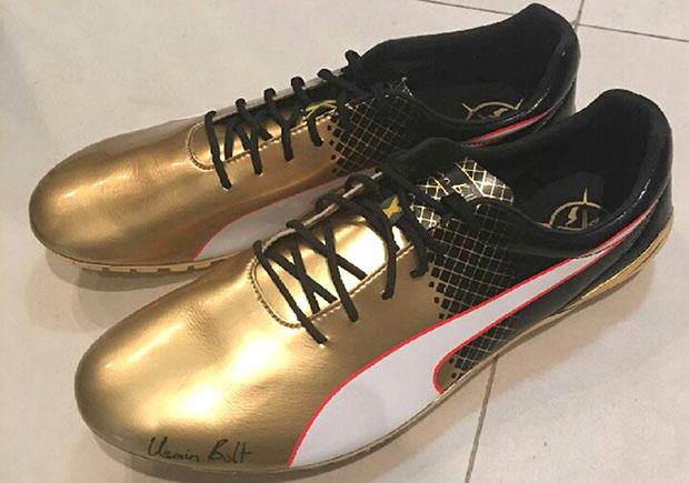 huge discount ee8c1 ae859 Usain Bolt PUMA Gold Spikes 100m usain bolt puma shoes price