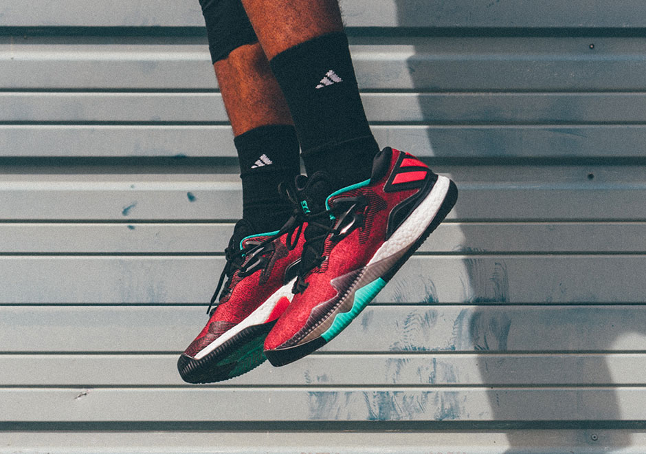 """The adidas Crazylight Boost 2016 """"Ghost Pepper"""" hits adidas.com and select  retailers on September 22nd for  130. 40f144d85"""