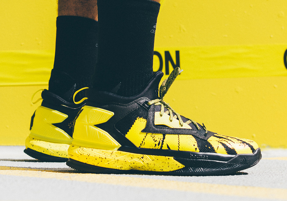 "new concept 32cea 45721 adidas D Lillard 2 ""Yellow Tape"""