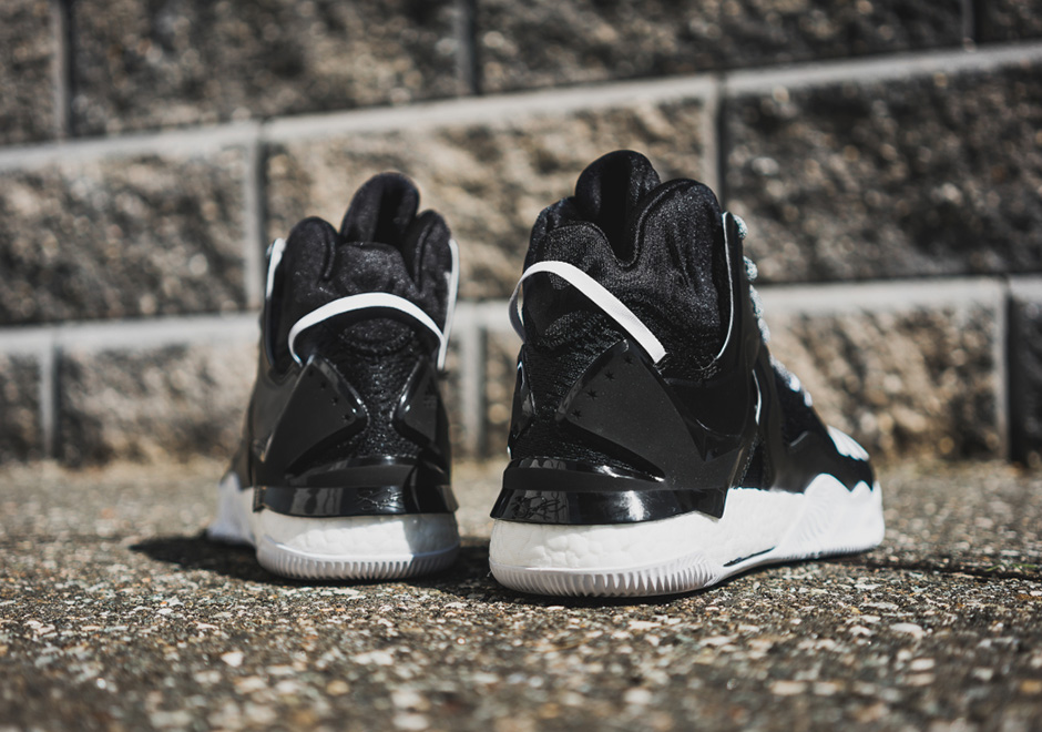 reputable site d26be 58cd3 adidas D Rose 7 Boost Core Black White  SneakerNews.com