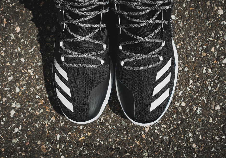 reputable site 5d974 1cafb adidas D Rose 7 Boost Core Black White  SneakerNews.com