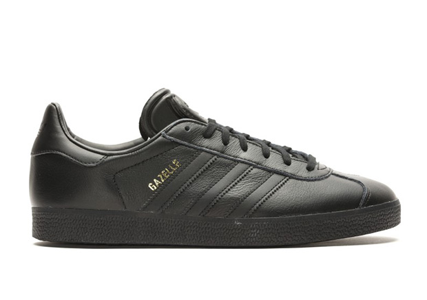 The adidas Gazelle Releases In Black Leather 8c8fe5c7f
