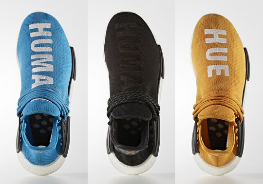 "Five adidas NMD ""Human Race"" Colorways By Pharrell Are Releasing Soon"