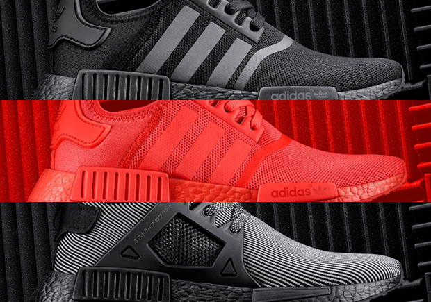 Reserve adidas NMDs With Red Boost And Black Boost Now