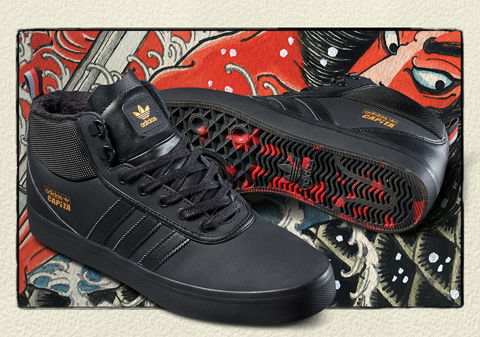 Capita Snowboards and adidas Skateboarding collaborate this fall on a skate shoe to get you ready for the winter cold ahead. The Adi Trek by Capita and