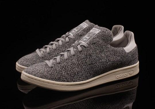 Grey Primeknit Adorns The adidas Stan Smith