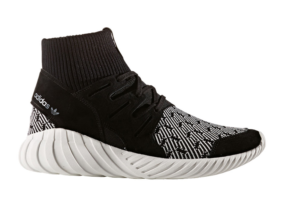 adidas Tubular Doom Black White Patterned S80096
