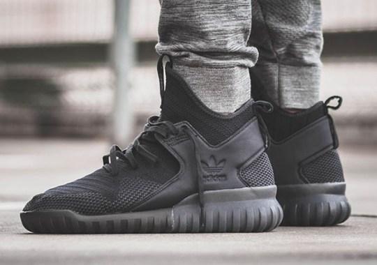 The adidas Tubular X Primeknit Goes Triple-Black