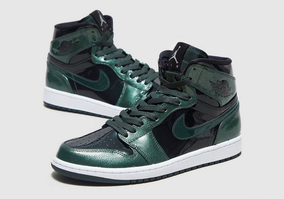 cheaper how to buy really cheap Air Jordan 1 High Grove Green Patent Leather | SneakerNews.com